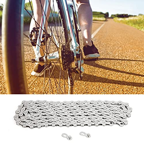 Hoseten Cadena de Bicicleta, Cadena Flexible de 126 eslabones para Bicicleta de montaña para Bicicleta de Carretera