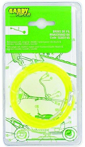 Greenstar 1606679 11384 Lot de 10 Brins de fil nylon adaptable pour Black + Decker