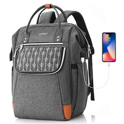 Rucksack Damen für 15.6 Zoll Laptop, Schulrucksack Mädchen Teenager mit USB Ladeanschluss für Schule Uni Reisen Freizeit Job mit Laptopfach & Anti Diebstahl Tasch