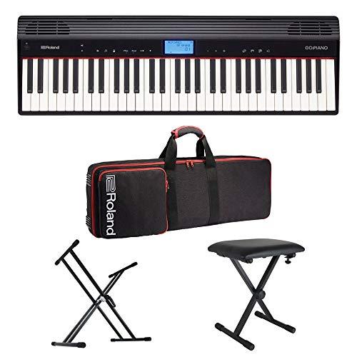 ROLAND GO-61P GO:PIANO エントリーキーボード ピアノ 純正ケース/X型キーボードスタンド/X型椅子付きセット