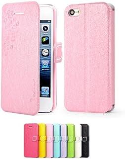 Mulbess Apple iPhone 5C DearStyles Flip Slim Case funda de cuero para el iPhone 5C Función Soporte Color Rosa