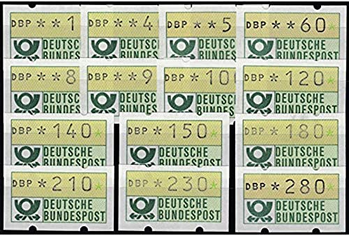 Goldhahn BRD ATM 1.1 - 14 Werte mit Weißer Gummierung postfrisch  Briefmarken für Sammler