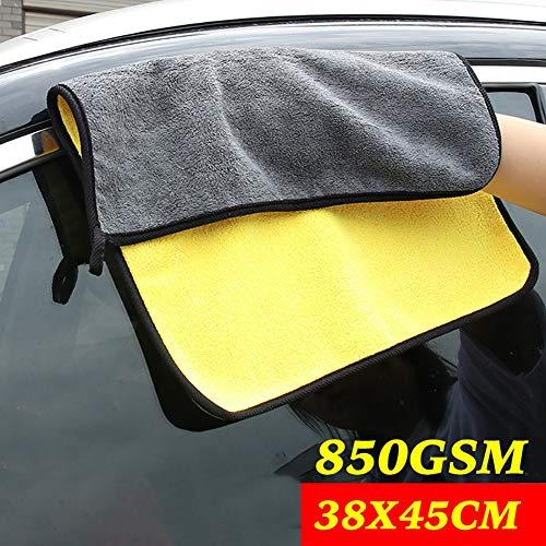 Habbuy PañOs De Limpieza De Autos Paños De Microfibra Paños De Limpieza MáGicos. Gran Fibra Súper Suave, Paño De Limpieza Sin Productos Químicos. Paño Lavable Para Automóvil/Moto /