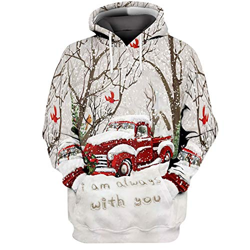 Unisex Kapuzenpullover Herren Weihnachts Langarmshirt Pullover Sweatshirt Weihnachtspullover Funny Weihnachtsmotiv Weihnachten Hoodie Warm Herbst und Winter Kapuzenjacke