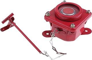Baoblaze Botón de Advertencia Botón de Alarma de Incendio Marina 250V 10A Dk7-1 IP56