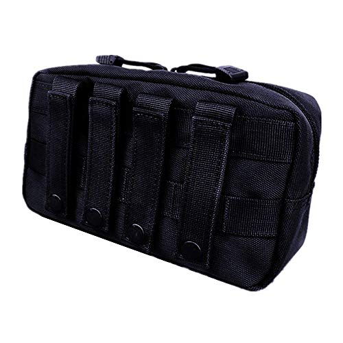HWZ 1000D Waterproof Molle Pouch Multi-Purpose Compact Tactical Waist Bags Utility Pouch (Black)