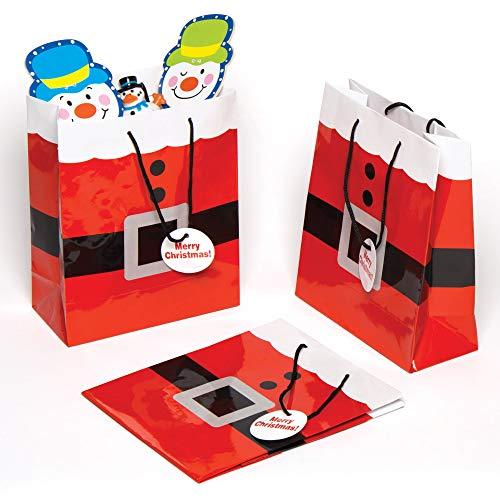 Baker Ross Pochettes Costume du père (Paquet de 6) -Emballages Cadeaux de Noël, AC167, Coloris Assortis