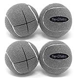 Top Glides Precut Walker Tennis Ball Glides - Gray - 2 Pairs