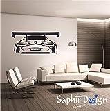 Saphir Design Wandtattoo AMG (Schwarz Matt - 60x100 cm)