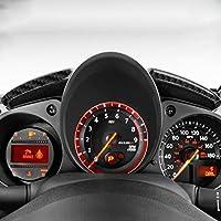 2個/セット炭素繊維車のスピードメーターパネルステッカー楽器サラウンド変更カバーアクセサリー ために 日産370Z Z34 2009-アップ