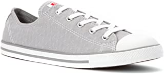 Chuck Taylor All Star Women's Dainty Ox Dolphin Grey Stitched Pattern 547308F