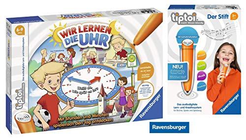 tiptoi Ravensburger 00847 Wir Lernen die Uhr + Ravensburger 008018 Stift - neu mit Aufnahmefunktion