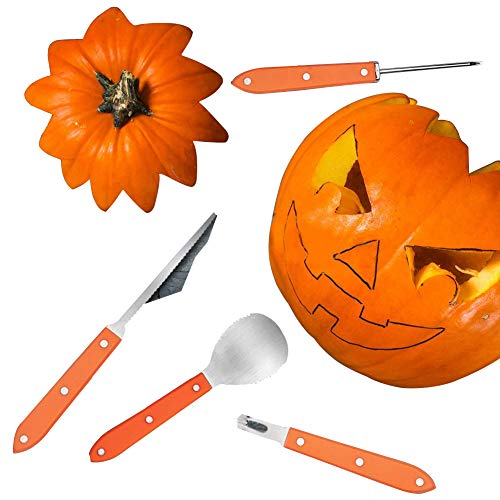 Pumpkin Carving Kit,8 PCS Stainless Steel Pumpkin Carving Tools Set,Carving Kit with Carrying Case Perfect for Halloween Decoration