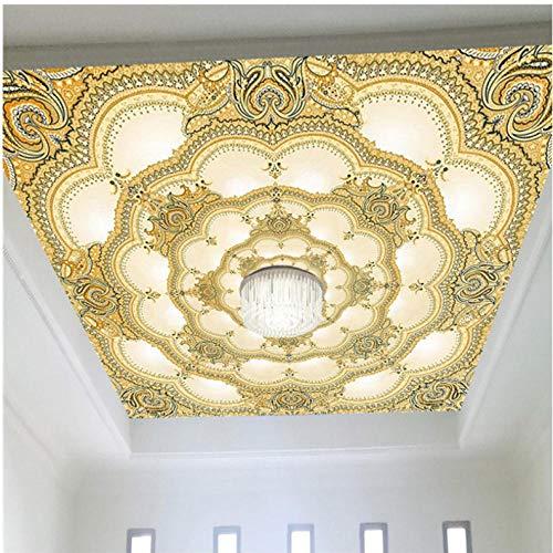 Wuyyii Europese Stijl Luxe Behang Hotel Woonkamer 3D Plafond Mural Landschap Fotobehang Milieuvriendelijk Niet-Geweven Huisdecoratie 200 x 140 cm.