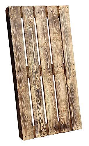 Geflammte Holzpalette/Palette flammbiert aus Holz - Einwegpalette Tauschpalette Upcycling Palettentisch 120x60x12,5cm