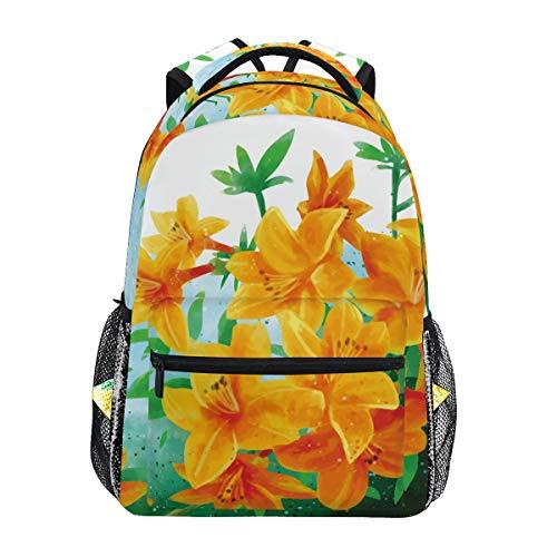 Rhododendron Goldener Adler Blumen-Rucksack mit großer Kapazität, Segeltuch Rucksack für Kinder, Erwachsene, Teenager, Frauen und Männer