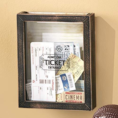 Memento Ticket Box Wall Hanging Holder - Framed Keepsake Decoration