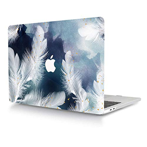 ACJYX Case Only Compatible with MacBook Pro Retina 13 Inch Model A1502 A1425 Older Version Release 2015 2014 2013 end 2012, Print Pattern Plastic Hard Shell Case Snap on Cover, White Feather