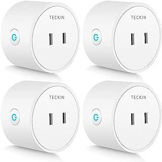 スマートプラグ WiFi スマートコンセント TECKIN Echo Alexa対応 Google ホーム対応 遠隔操作 スケジュール設定 2.4GHzで動作 直差しコンセント ハブが必要なし 4個セット