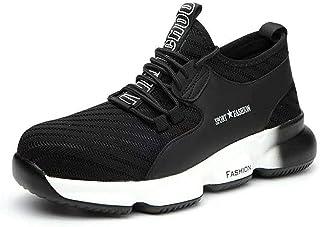 Kefuwu Chaussures de Securité Homme Chaussures de Travail Baskets de Securité Embout Acier Protection Léger Respirante Ant...