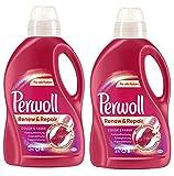 Perwoll Renew & Repair Color & Faser, Feinwaschmittel, Waschmittel 48 (2 x 24) Waschladungen