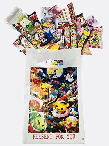 RAPID-Pokemon Japanese Candy Gift Box 30 pcs-''Dagashi'' snack with Japanese anime bag