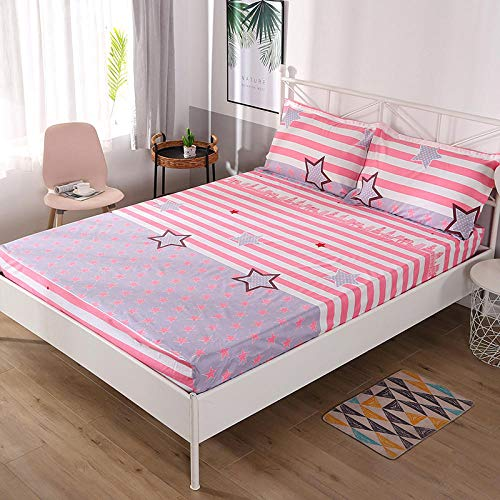 HPPSLT Non-Iron Bedding Fitted Sheet with All Around Elastics Brushed Microfiber Breathable Waterproof bed sheet single piece printing-13_120*200cm