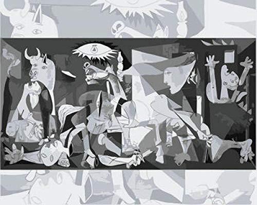 Pintura por números, para pintar por números, para adultos y niños, regalo para adultos y niños, kit de decoración para el hogar WM-631-Guernica