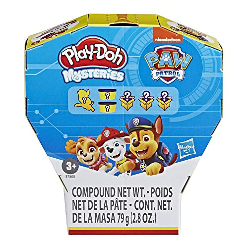 PlayDoh Mysteries Paw Patrol Surprise Toy with 6 Secret Toys Featuring A Suprise Paw Patrol Pup amp NonToxic Compound
