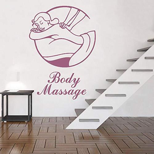 Body massage logo pvc muursticker massagetherapeut sticker spa decoratie raam poster decoratie decal57x80cm