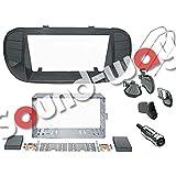 Kit de montage pour autoradio 2 DIN Fiat 500 cinquecento noir mat