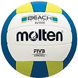 MOLTEN Voley Playa Elite (FIVB Aprobado, Oficial al Aire Libre Voleibol de EE. UU, Voleibol, Azul/Amarillo)