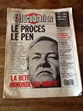 ELUCUBRATION (L') [No 1] du 01/06/1987 - LE PROCES LE PEN - M. HARRISSON.