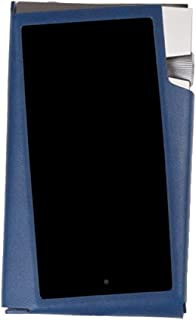 case&Sir for Astell&Kern A&Norma SR25, Handmade PU Leather Case Cover AK SR25 Case (Navy)