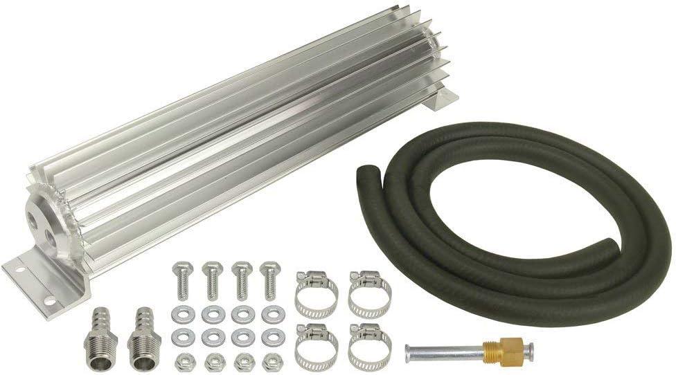 Attention brand Derale 13263 Dual Pass Aluminum Cooler Silver shop Sink Heat