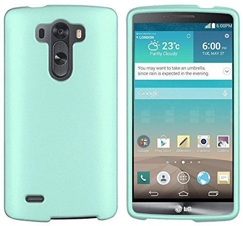 Mint Rubberized PROTEX Hard CASE Protector Cover Shell for LG G3 Vigor Mini Beat