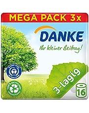 Danke Toiletpapier 3-laags reuzenverpakking, 3 verpakkingen (elk 16 rollen x 150 vellen)