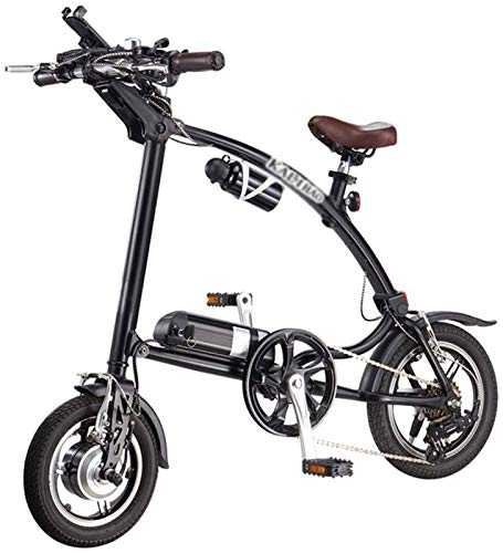 YAOSHUYANG Electric Bike 12 Inches Folding Electric Bike Power Assist E-Bike 25km/h 3 Riding Modes 240w 36v 5.8ah Lithium-ion Batter Can Bear 150kg Mens Mountain Bicycles Suitable for Men and Women