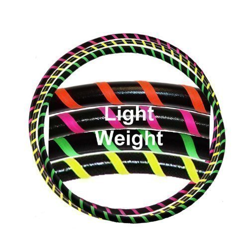 Hooping4Life LW Black and Fluorescent Green Small 36 light weight 450g exercise dance Hoop