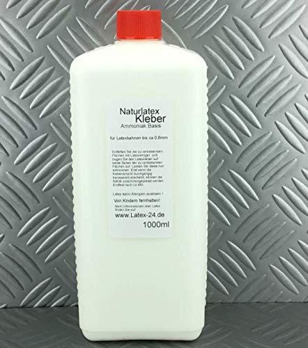 1Liter LATEXKLEBER Ammoniak-Basis Latex Meterware bis 0,6mm Leim Gummi Kleber Meterware Bahnen