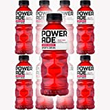 Powerade Zero Sugar Red Fruit Punch, Zero Calorie Sports Drink, 20oz Bottle (Pack of 8, Total of 160 Oz)