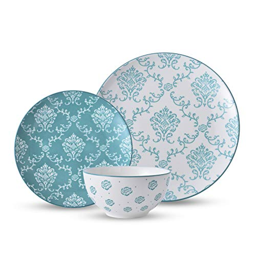 Original Heart Dinnerware Sets Ceramic Dish Set 12pcs Dinnerware Set Plates and Bowls Sets Nonstick Plate Set Dishes Set for 4