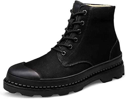 ChengxiO Chaussures décontractées pour Hommes Chaussures Chaussures Chaussures décontractées pour Hommes en Cuir Randonnée décontractée Bottes Martin Chaussures décontractées pour Hommes Chaussures d'extérieur 518