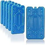 com-four® 6X Paquete de Hielo Plano - Ahorra Espacio y es Ideal para la Nevera y la Bolsa de frío - Elemento refrigerante Estrecho para el Camping y la Playa (06 Piezas - Medio)