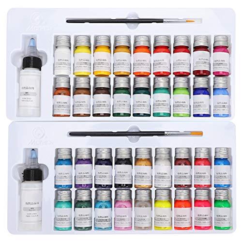 SALUTUYA Set de pigmentos de Pintura, con 2 Botellas, Regalo para niños y Adultos, para Pintar,