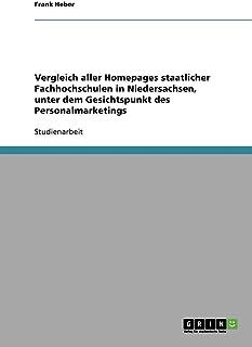 Vergleich aller Homepages staatlicher Fachhochschulen in Niedersachsen, unter dem Gesichtspunkt des Personalmarketings