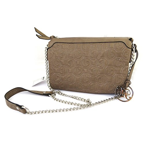 Francinel [L8347 - Pouch tasche 'Romy' taupe gesteppte.