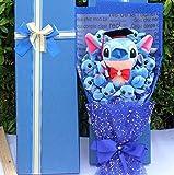 Juantin Store Stuffed Animal Drop Shipping Cartoon Lilo Stitch Plush Doll Toys Cute Lilo Stich Plush Bouquet with Fake Flower Wedding Party Gift No Box-No Box