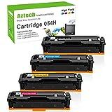 Aztech Cartuchos de tóner colores negro, cian, amarillo y magenta, compatibles con Canon 054, 054h, para Canon i-SENSYS LBP621cw, 623cw, MF643CDW, MF645CX
