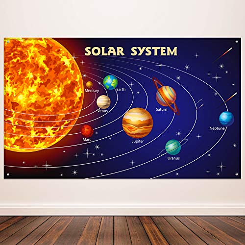 Solar System Party Decorations, Extra Large Fabric Solar System Planets...